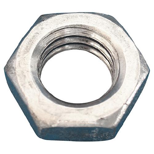 Contre-écrou hexagonal à profil bas Precision, 1/2 po de diamètre, 13 pas, acier, boîte de 50