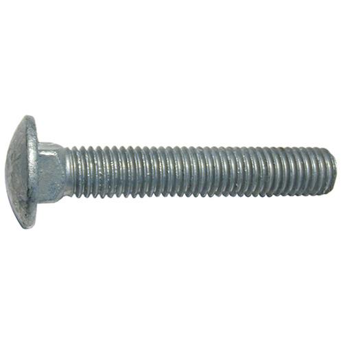 Boulons de carrosserie à tête ronde Precision, 1/4 po de diamètre x 3 po L., 20 pas, acier galvanisé, paquet de 50