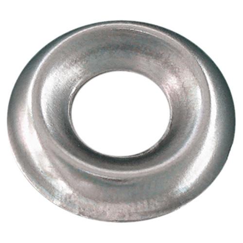 Rondelles de finition en acier inoxydable Precision, diamètre no 8, fraisées standard, paquet de 100