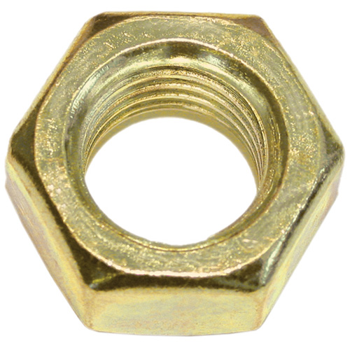 Écrou de mécanique hexagonal en laiton Precision, 1/4 po de diamètre, 20 pas, boîte de 100