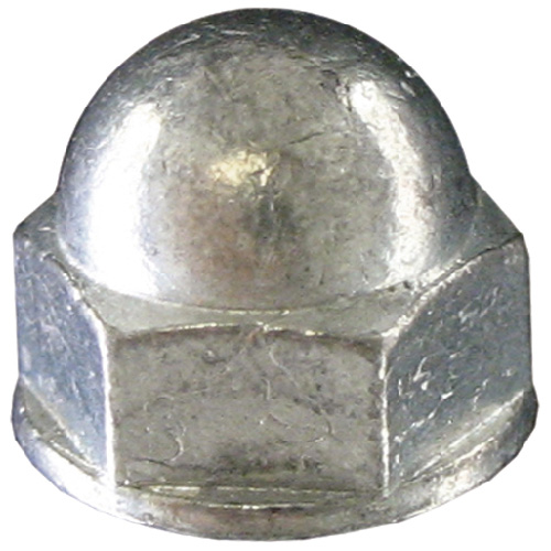 Écrous borgnes hexagonaux Precision, diamètre no 6, 32 pas, acier inoxydable, boîte de 50