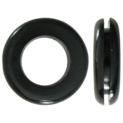 Oeillets passe-fils Precision, noir, caoutchouc, paquet de 10, 5/16 po