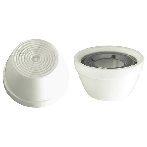 Capuchons décoratifs Precision, 1/4 po de diamètre, plastique blanc, 10 unités