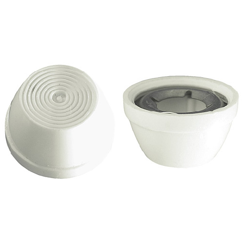 "Decorative Cap - Plastic - 3/8"" - White - Box of 10"