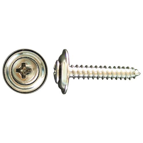 Vis de finition Precision, tête ovale, empreinte cruciforme, chrome, diamètre no 8 x 1 po L., paquet de 50