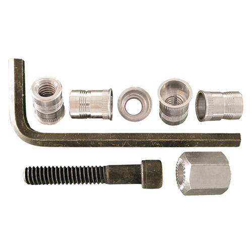 Jeu d'écrous à sertir de Precision, 1/4 po de diamètre, 20 pas, aluminium, 5 pièces