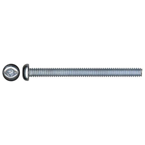 Vis mécanique zinguée à tête cylindrique de Precision, no 6, 1/2 po, empreinte carrée, épointée, paquet de 100