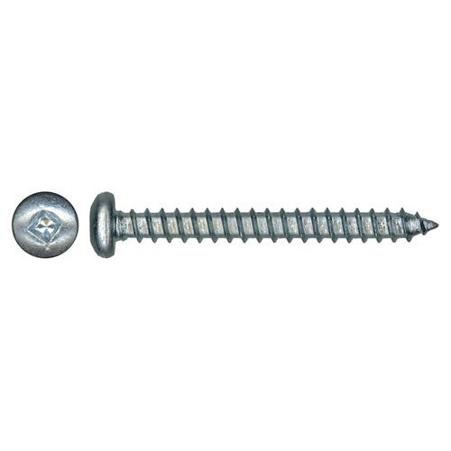 Vis à tête cylindrique en acier zingué Precision, no 6, 3/8 po, autotaraudeuses, empreinte carrée, paquet de 100
