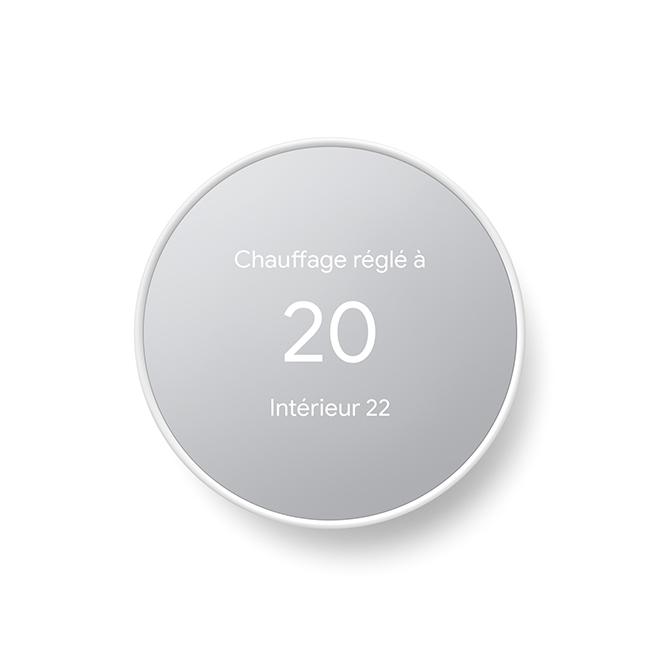 Thermostat Google Nest avec compatibilité Wi-Fi, blanc