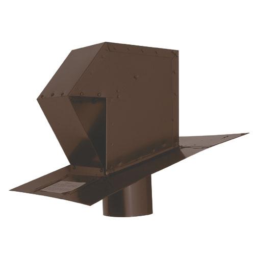 "Brown 4"" Galvanized Steel Roof Exhaust Trap"