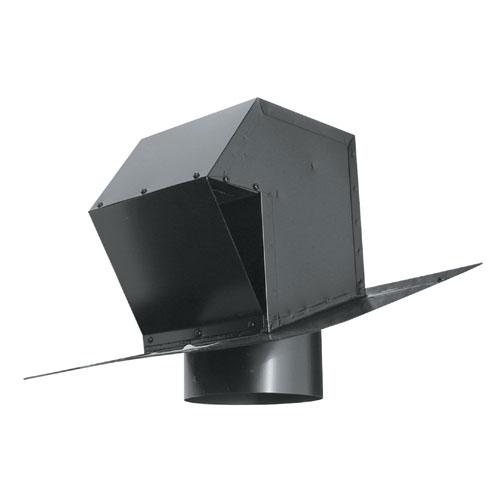 """Évent de toit en acier galvanisé 6"""" noir"""