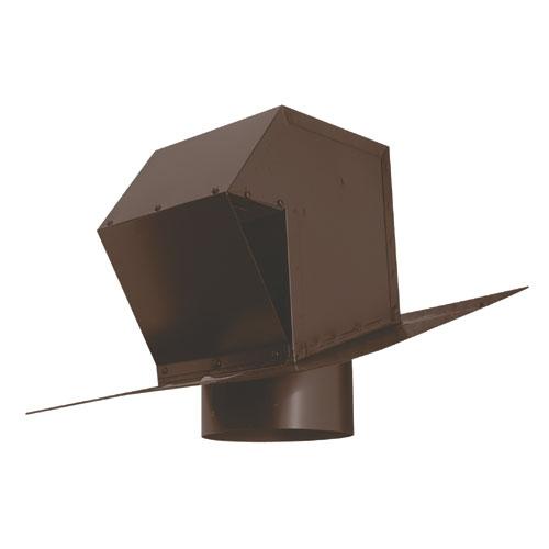 """Évent de toit en acier galvanisé 6"""" brun"""