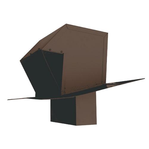 "Brown 3 1/4"" x 10"" Galvanized Steel Roof Exhaust Trap"