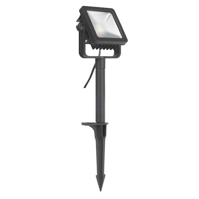 Projecteur de lumière de jardin DEL, Vision Home, aluminium noir