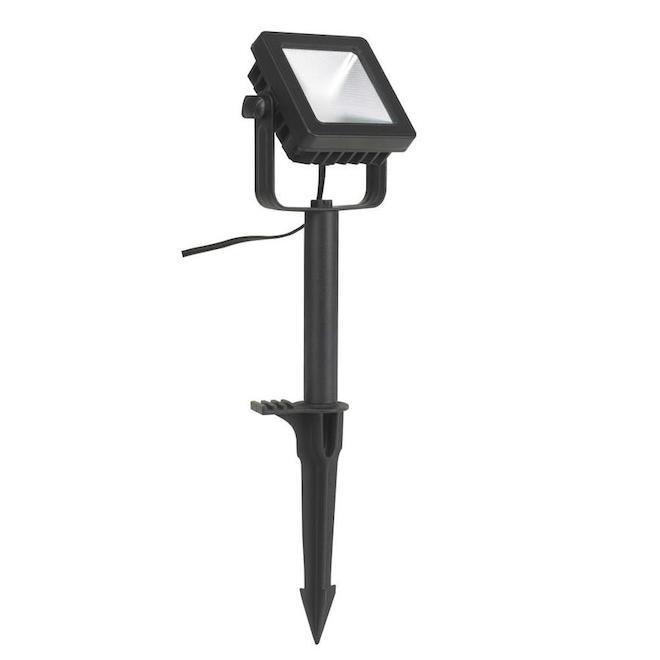 Projecteur de jardin DEL, Vision Home, aluminium 9.29 po noir