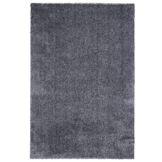 Carpette d'appoint poils longs Hudson, 5 x 7,6', sel/poivre