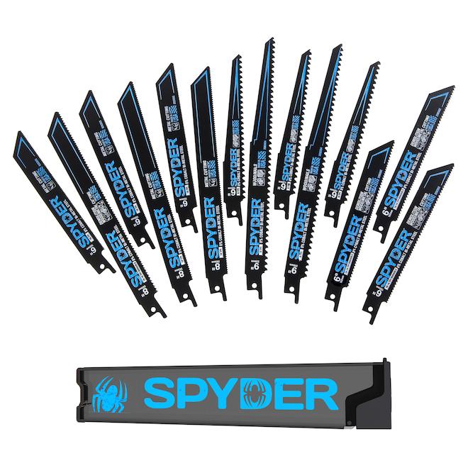 Lames pour scie alternative Spyder, ensemble de 14 pièces