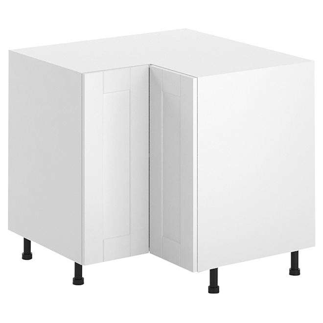 Armoire de cuisine de coin 90°, 1 porte, blanc