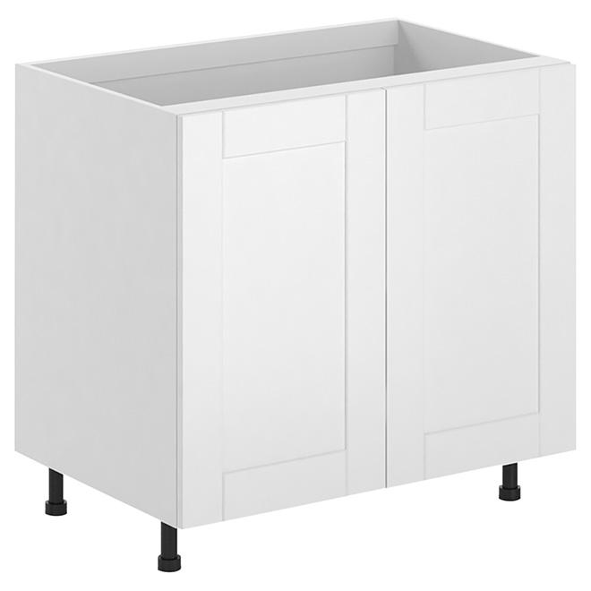 Armoire de cuisine à 2 portes, blanc