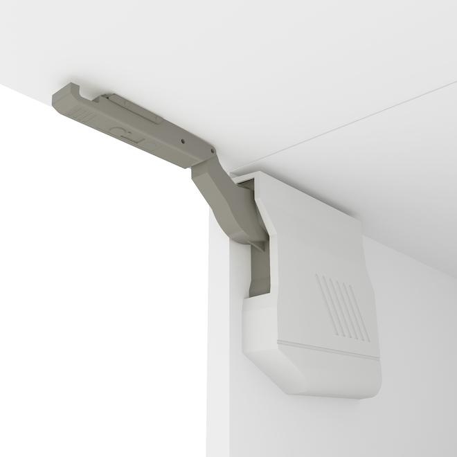 Charnières pour portes d'armoire, gris, paquet de 2