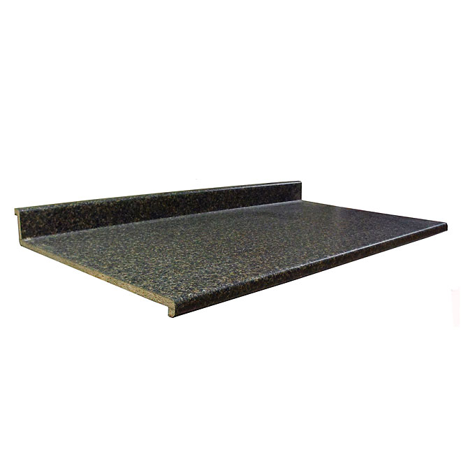 "Moulded Counter 2300, Labrador Granite, 25"" x 10'"
