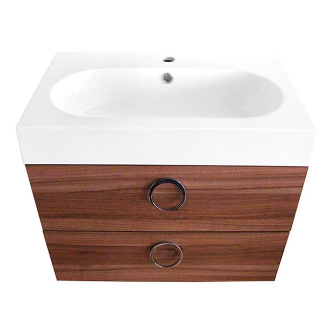 Meuble-lavabo 1 tiroir et évier « Relax » -  Noyer