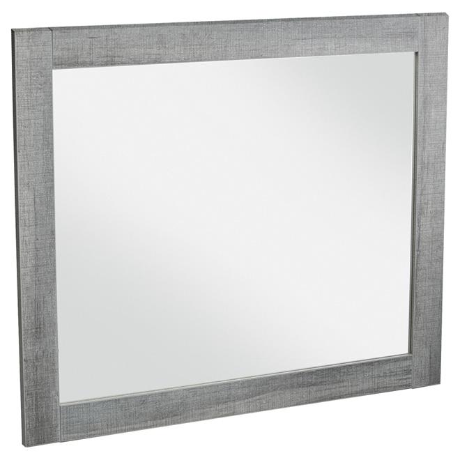 "Miroir mural, 35 1/2"" x 29 1/2"", bleu-gris"