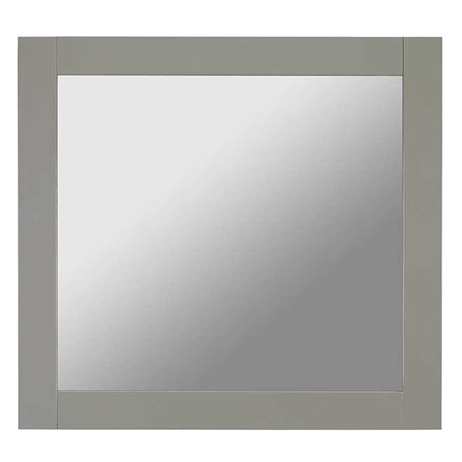 "Mirror - Modern - 30"" x 30"" - Grey"