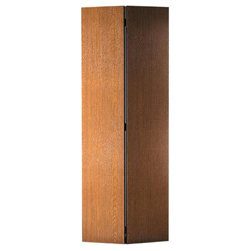 Porte pliante Lauan de Metrie, placage de bois teinte acajou, porte intérieure, 24 po l. x 80 po h. x 1 3/8 po p.
