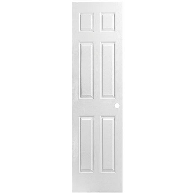 """Pre-Machined 6-Panel Door - Hollow Core - 18"""" x 80"""""""