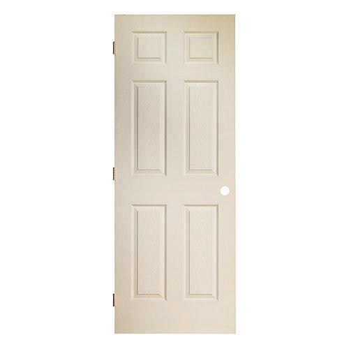 Porte intérieure préusinée - 6 panneaux