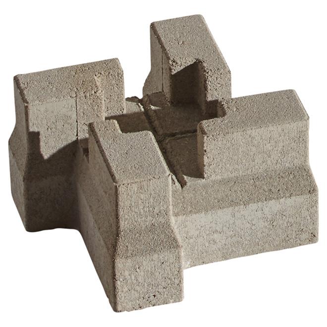 """Bloc de patio en béton, 5 3/4"""" x 10 1/4"""" x 10 1/4"""", gris"""
