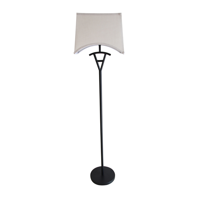 """Floor Lamp 57"""" - Black/Beige"""