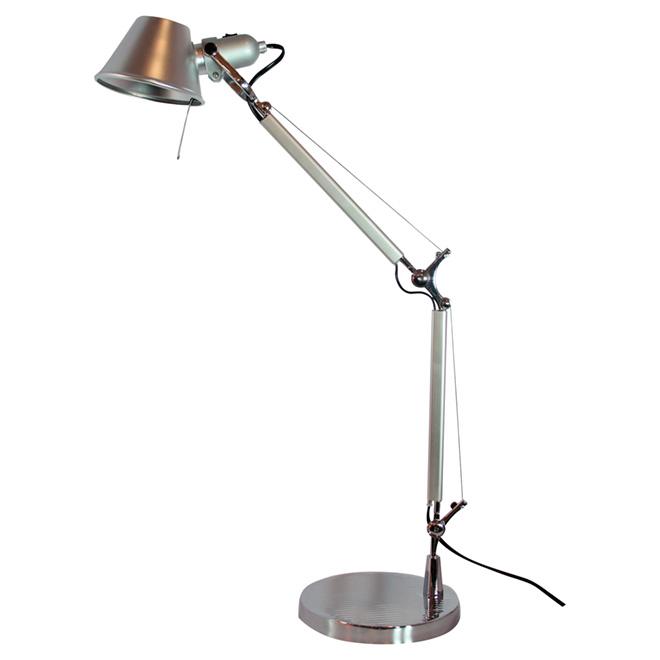 "Adjustable Table Lamp - 31.5"" - Satin Nickel"