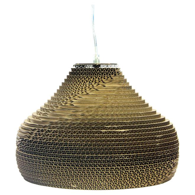 "1-Light Pendant Light - 11.8"" - Brown Paper"
