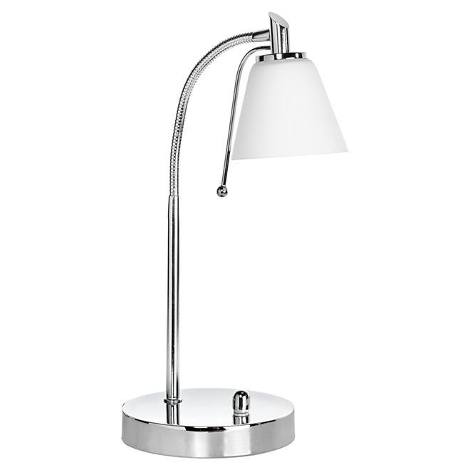 Lampe de bureau Deska, 27 cm, chrome