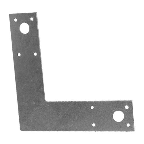 """Steel L Post Strap 1 1/2"""" x 6"""" x 6"""" - Box of 20"""