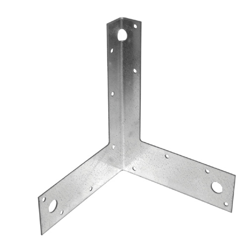 "Galvanized Steel Corner Tie 6"" x 8"" - Box of 25"