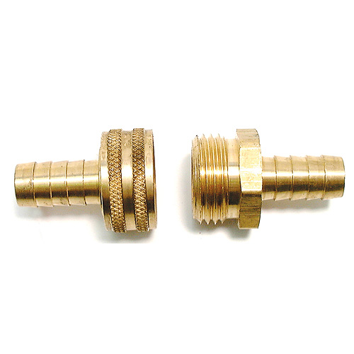 Brass hose coupling