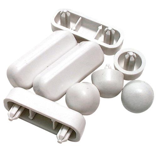 Protecteurs en plastique blanc pour siège de toilette