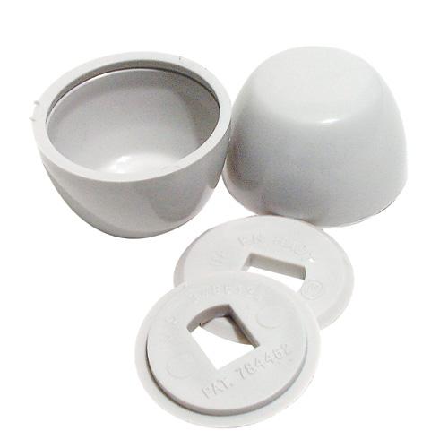 Plastic Bolt Caps - Bone Coloured