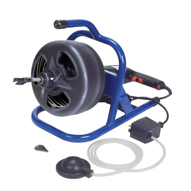 """Dévidoir électrique à câble 5/16"""" x 50' à commande au pied"""