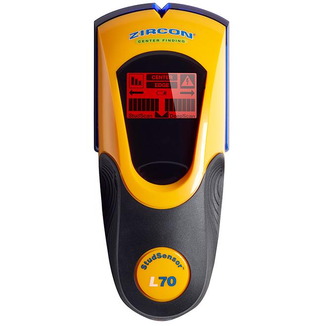 Détecteur de montant, StudSensor L70 OneStep, jaune et noir