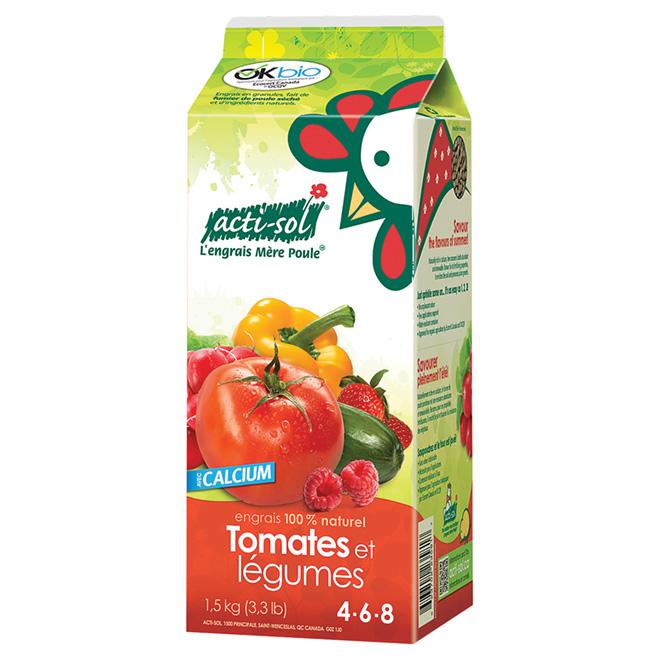 Engrais pour tomates et légumes 4-6-8, 1,5 kg