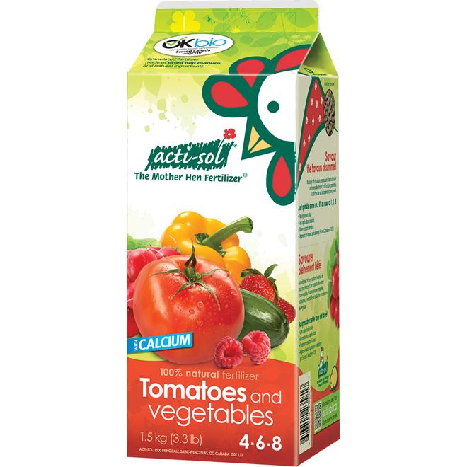 Tomatoes and Vegetables Fertilizer -  4-6-8 - 1.5 kg