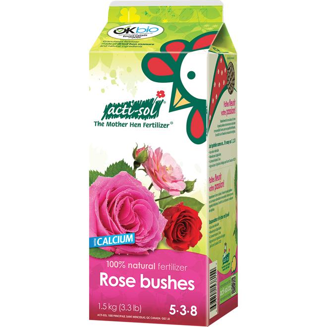 Rose Bushes Organic Fertilizer 5-3-8