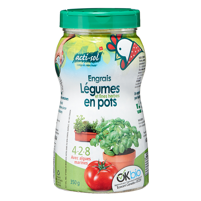 Engrais naturel pour fines herbes et légumes, 350 g