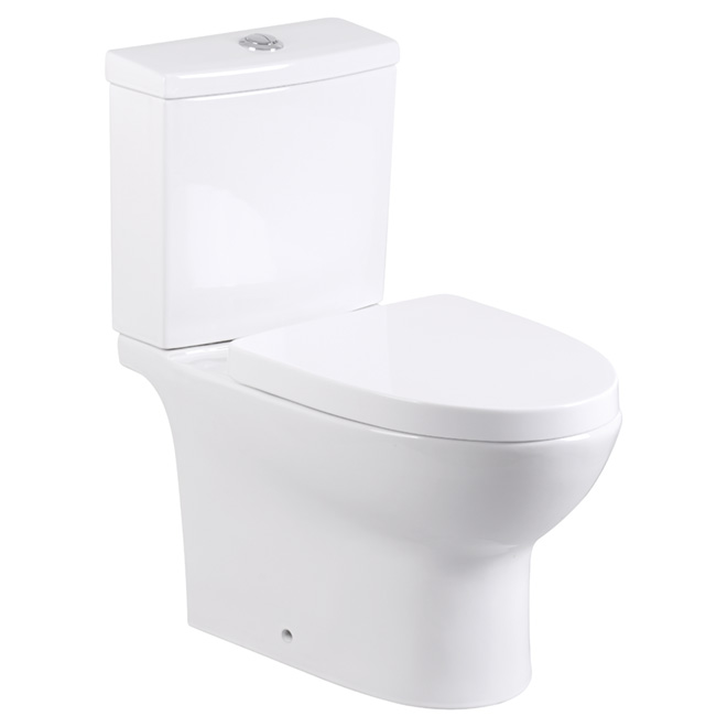 Toilette 2 pièces à cuve allongée, 4 l/6 l, blanc