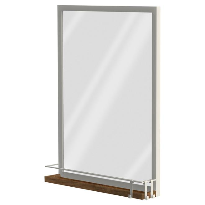 Mirror with Shelf - Gloss White