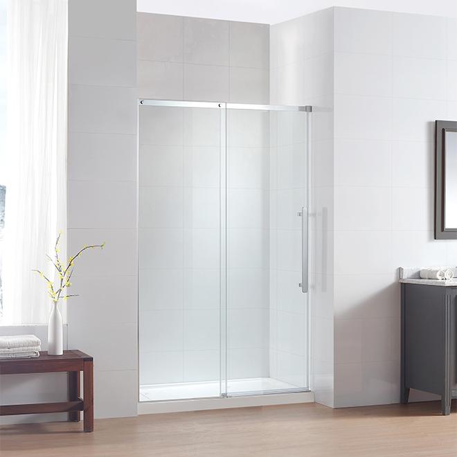 """Porte de douche coulissante en verre, 48"""""""